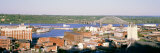 Aerial View of Dubuque, Iowa, USA Photographic Print by  Panoramic Images