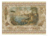 Schöne Küste von Amalfi Poster von Thomas L. Cathey