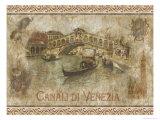 Kanal in Venedig Kunstdruck von Thomas L. Cathey