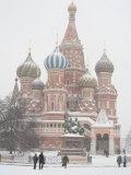 St. Basil's Cathedral, Red Square, Moscow, Russia Fotografie-Druck von Ivan Vdovin