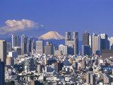 Mt.Fuji and Tokyo Shinjuku Area Skyline, Tokyo, Japan Fotoprint av Steve Vidler