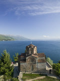 Sveti Jovan at Kaneo Church on Lake Ohrid, Ohrid, Macedonia Photographic Print by Walter Bibikow