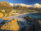 Clifton Bay and Beach, Cape Town, South Africa Fotografisk tryk af Peter Adams