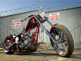 Shiny New Custom Motorcycles in Impound Photographic Print