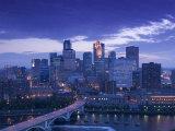Skyline of Minneapolis, Minnesota, USA Fotografisk trykk av Walter Bibikow