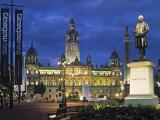 City Chambers, George Sq. Glasgow, Scotland Fotografie-Druck von Doug Pearson
