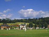 Cricket on Village Green, Surrey, England Reproduction photographique par Jon Arnold