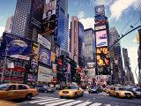 Times Square, New York City, USA Bedruckte aufgespannte Leinwand von Doug Pearson