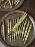 Pens Made from Spent Bullet Cartridges, Bascarsija, Sarajevo, Bosnia and Herzegovina Photographic Print by Walter Bibikow