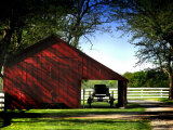 Buggy in the Red Barn Photographic Print by Jody Miller