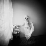 Pinhole Camera Shot of Standing Topless Woman in Hoop Skirt Lámina fotográfica por Rafal Bednarz