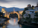 Mostar and Old Bridge over the Neretva River, Bosnia and Herzegovina Photographic Print by Gavin Hellier