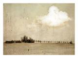 Crop Field and Barn Reproduction photographique par Mia Friedrich