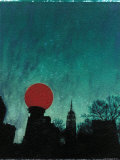 Scarlet Streetlight with Chrysler Building Photographic Print by Robert Cattan