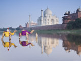 Taj Mahal, Agra, Uttar Pradesh, India Lámina fotográfica por Doug Pearson
