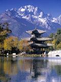 Black Dragon Pool, Lijiang, Yunnan, China Fotografie-Druck von Peter Adams