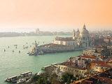 Basilica Di Santa Maria Della Salute and Grand Canal, Venice, Italy Photographic Print by Alan Copson