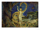 Eve Tempted by the Serpent Lámina giclée por William Blake