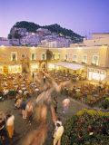 Piazzetta, Capri Town, Capri, Bay of Naples, Italy Photographic Print by Demetrio Carrasco