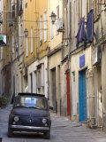 Fiat Driving in Narrow Street, Sassari, Sardinia, Italy Photographic Print by Doug Pearson