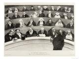 The Ministerial Benches, A Political French Cartoon Lámina giclée por Honore Daumier