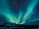 Northern Lights, Endicott Mountains in the Brooks Range, Alaska Premium fotografisk trykk av Hugh Rose