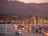 Harbor, Santa Barbara, California Reproduction photographique par Nik Wheeler