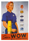 She's a WOW: Woman Ordance Worker Poster by Adolph Treidler