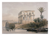 Hypaethral Temple at Philae, the Bed of Pharoah Giclee Print by David Roberts