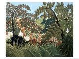 Exotic Landscape Giclée-tryk af Henri Rousseau
