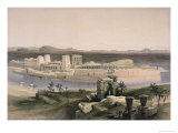 General View of the Island of Philae, Nubia Giclee Print by David Roberts