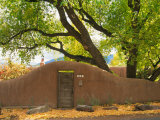 Contoured Adobe Wall, Santa Fe, New Mexico Photographic Print by Tom Haseltine