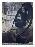 Death of a Grave Digger Giclee Print by Carlos Schwabe