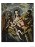 The Holy Family and Saint Anne Giclee Print by  El Greco