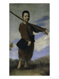 The Club Footed Boy, 17th century Giclée-tryk af Jusepe de Ribera