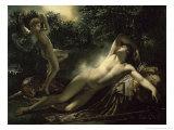 Le Sommeil D'Endymion Giclée-tryk af Anne-Louis Girodet de Roussy-Trioson