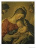 Madonna with the Infant Jesus Sleeping, 17th century Giclee Print by  Giovanni Battista Salvi da Sassoferrato