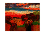 Landscape and Cottage Giclee Print by John Newcomb