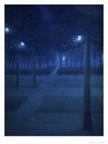 Nocturne Dans Le Parc Royal, Brussels Reproduction procédé giclée par William Degouve De Nuncques