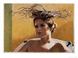 Woman Wearing a Nest Giclée-Druck von Helen J. Vaughn
