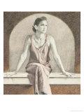 Woman in a Red Gown, c.1998 Giclée-Druck von Helen J. Vaughn