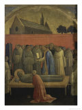 Death of St. Francis of Assisi Giclée-tryk af Lorenzo Monaco