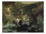 St. George Combattant Le Dragon Reproduction procédé giclée par Eugene Delacroix