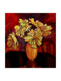 Peony Vase Giclee Print by John Newcomb
