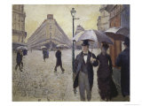 Sketch for Paris Street; Rainy Day, 1877 Reproduction procédé giclée par Gustave Caillebotte