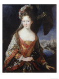 Portrait of the Princess Louise, Hippolyte Giclee Print by Carle Vanloo