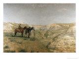 Cowboys in the Badlands, c.1887 Giclee-trykk av Thomas Cowperthwait Eakins