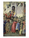 The Carrying of the Cross, c.1336-42 Giclée-tryk af Simone Martini