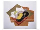 Still Life with a Guitar, c.1920 Impressão giclée por Juan Gris