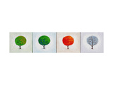 Seasons: Four in Line Giclee Print by John Newcomb